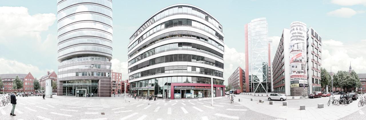 Aussenansicht Impfcentrum Hamburg
